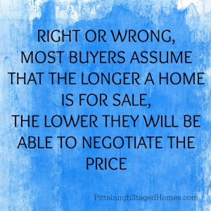 the longer a home is for sale the lower the price